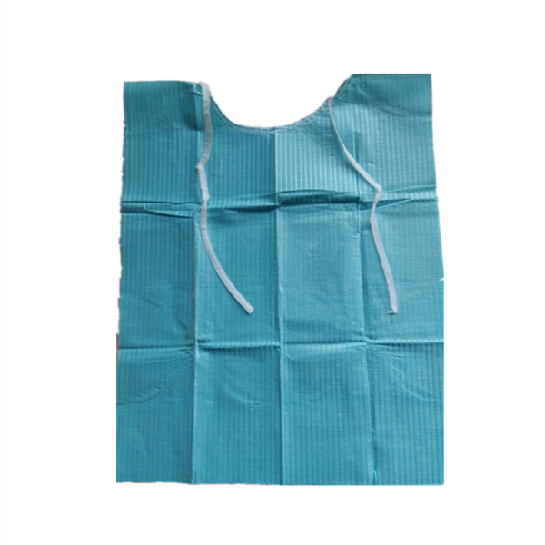 dental bib tie-on